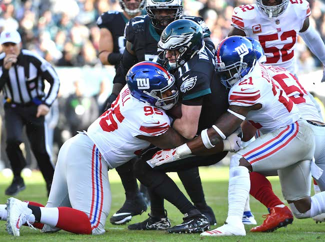 B.J. Hill and Landon Collins, New York Giants (November 25, 2018)