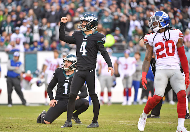 Jake Elliott, Phildelphia Eagles (November 25, 2018)