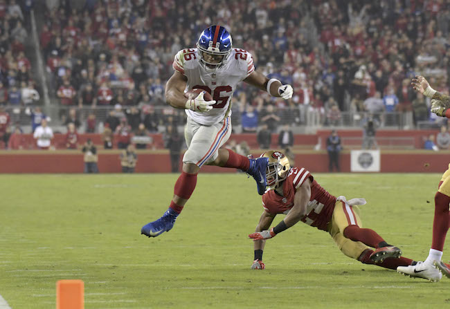 Saquon Barkley, New York Giants (November 12, 2018)