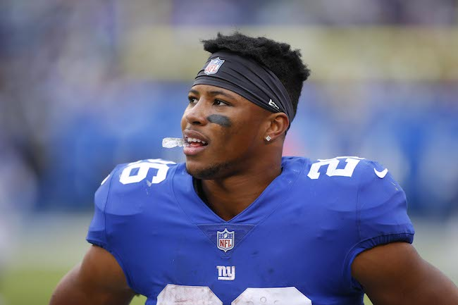 Saquon Barkley, New York Giants (October 28, 2018)