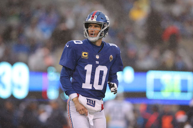 Eli Manning, New York Giants (December 16, 2018)