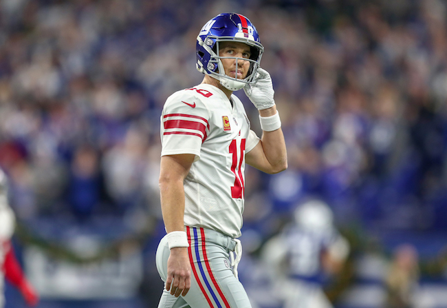 Eli Manning, New York Giants (December 23, 2018)
