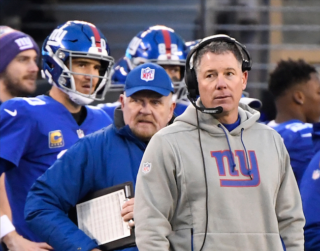 Eli Manning and Pat Shurmur, New York Giants (December 30, 2018)
