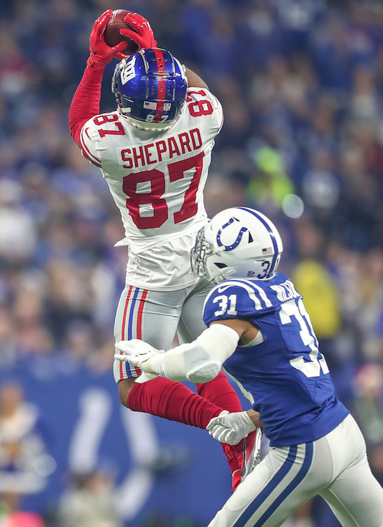 Sterling Shepard, New York Giants (December 23, 2018)