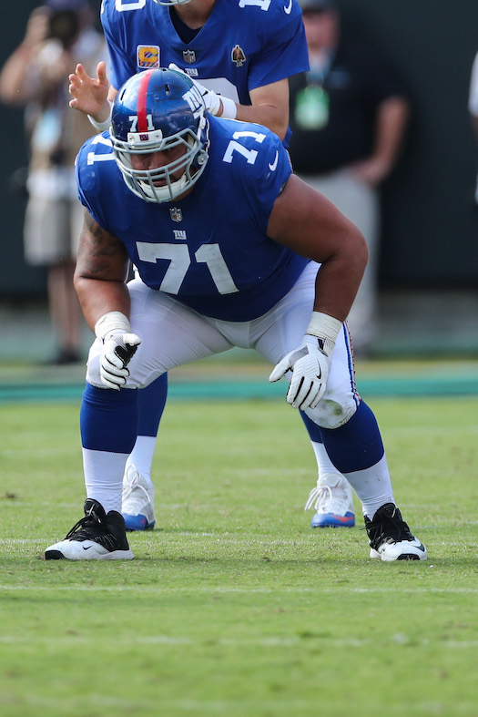 Will Hernandez, New York Giants (October 7, 2018)