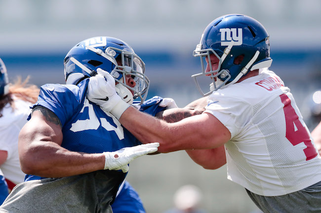 Oshane Ximines and C.J. Conrad, New York Giants (July 25, 2019)
