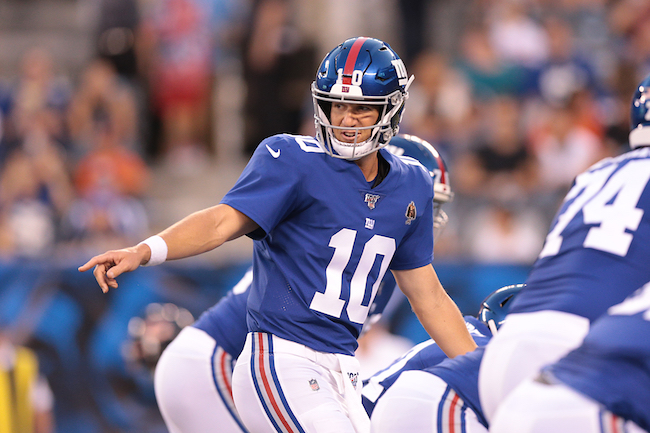 Eli Manning, New York Giants (August 16, 2019)