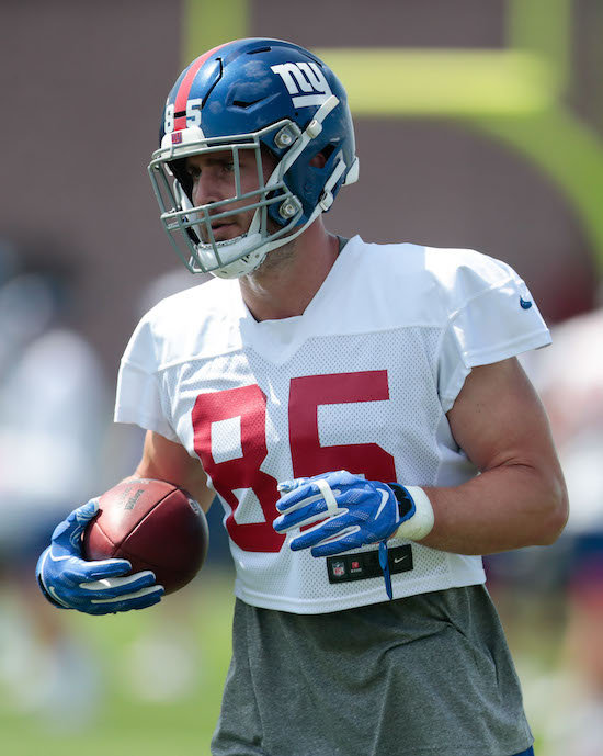 Rhett Ellison, New York Giants (July 25, 2019)