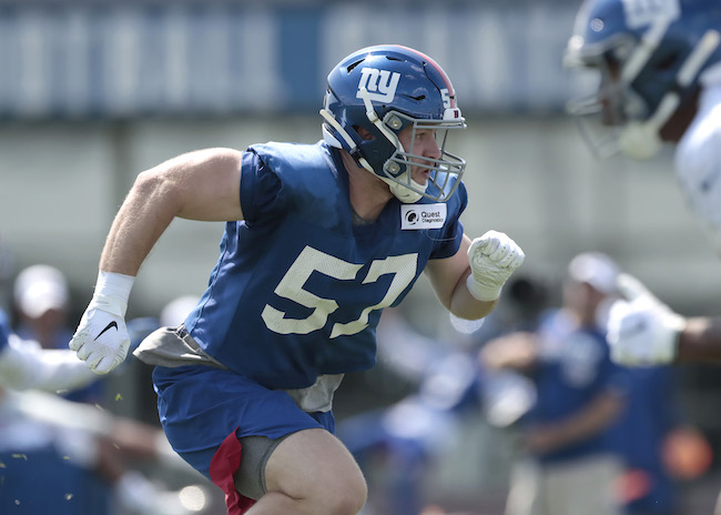 Ryan Connelly, New York Giants (July 25, 2019)