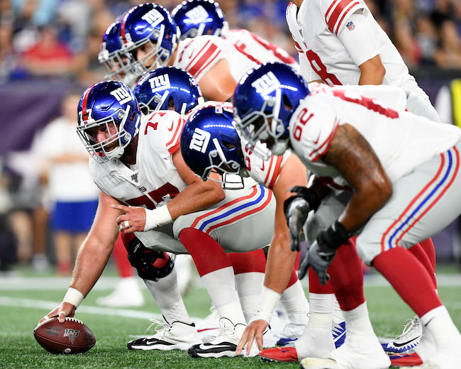 Spencer Pulley, New York Giants (August 29, 2019)
