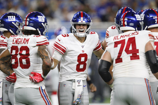 Daniel Jones, New York Giants (October 27, 2019)