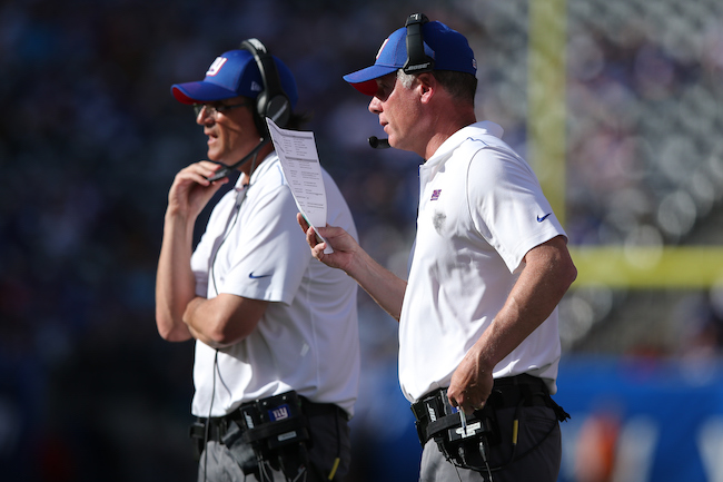 Mike Shula and Pat Shurmur, New York Giants (September 29, 2019)