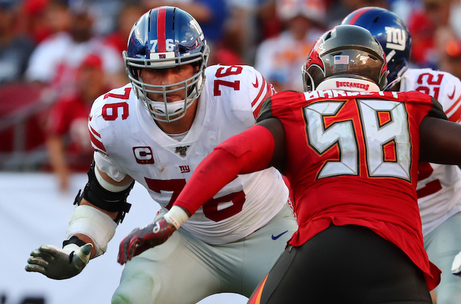 Nate Solder, New York Giants (September 22, 2019)