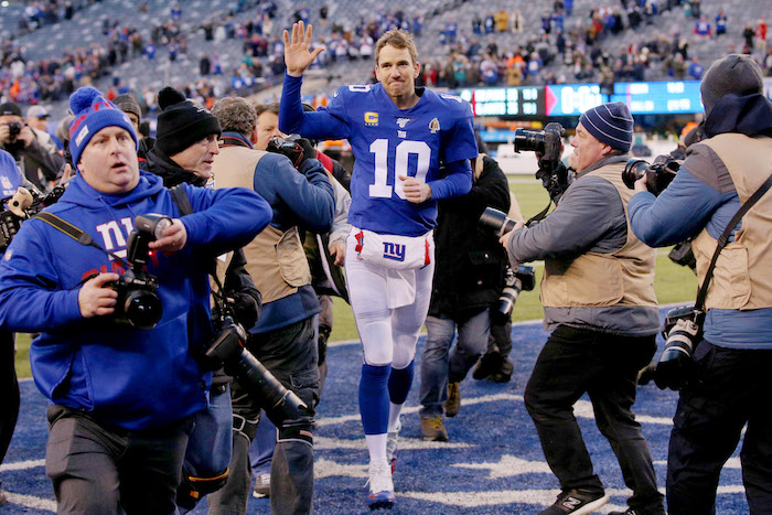 Eli Manning, New York Giants (December 15, 2019)