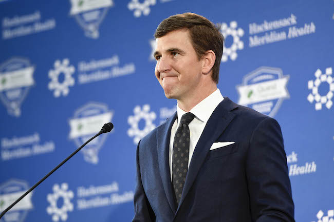 Eli Manning, New York Giants (January 24, 2020)