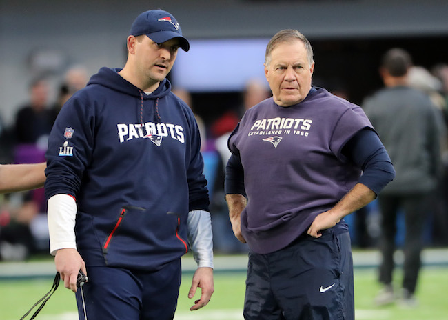 Joe Judge and Bill Belichick, New England Patriots (February 4, 2018)