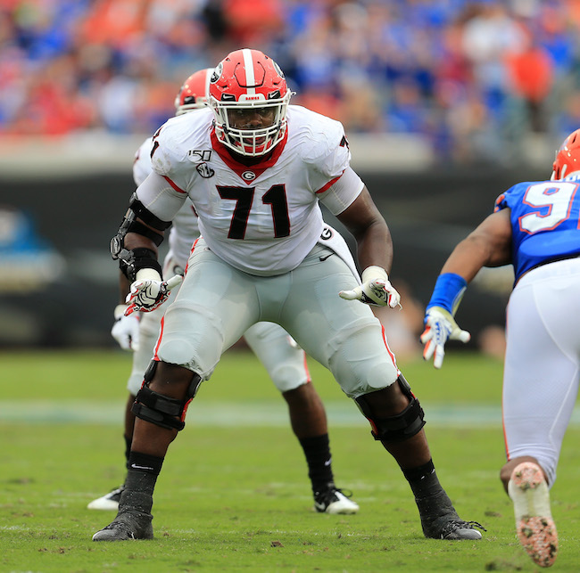 Andrew Thomas, Georgia Bulldogs (November 2, 2019)