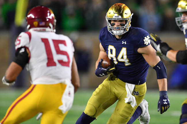 Cole Kmet, Notre Dame Fighting Irish (October 12, 2019)