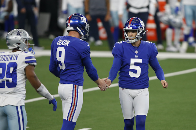 Riley Dixon and Graham Gano, New York Giants (October 11, 2020)
