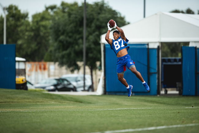Sterling Shepard, New York Giants (August 6, 2020)
