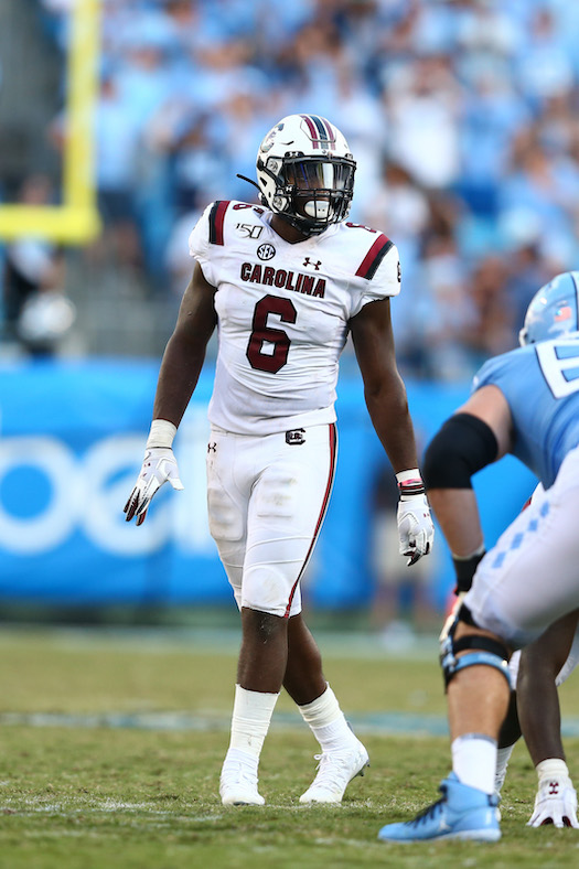 T.J. Brunson, South Carolina Gamecocks (August 31, 2019)