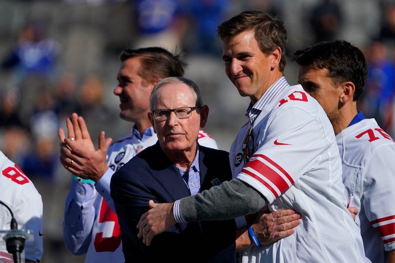 Tom Coughlin and Eli Manning, New York Giants (October 17, 2021)