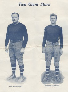 Joe Alexander and George Murtagh, New York Giants (1927)