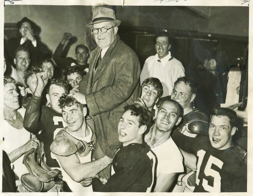 1938 New York Giants celebrate their NFL Championship