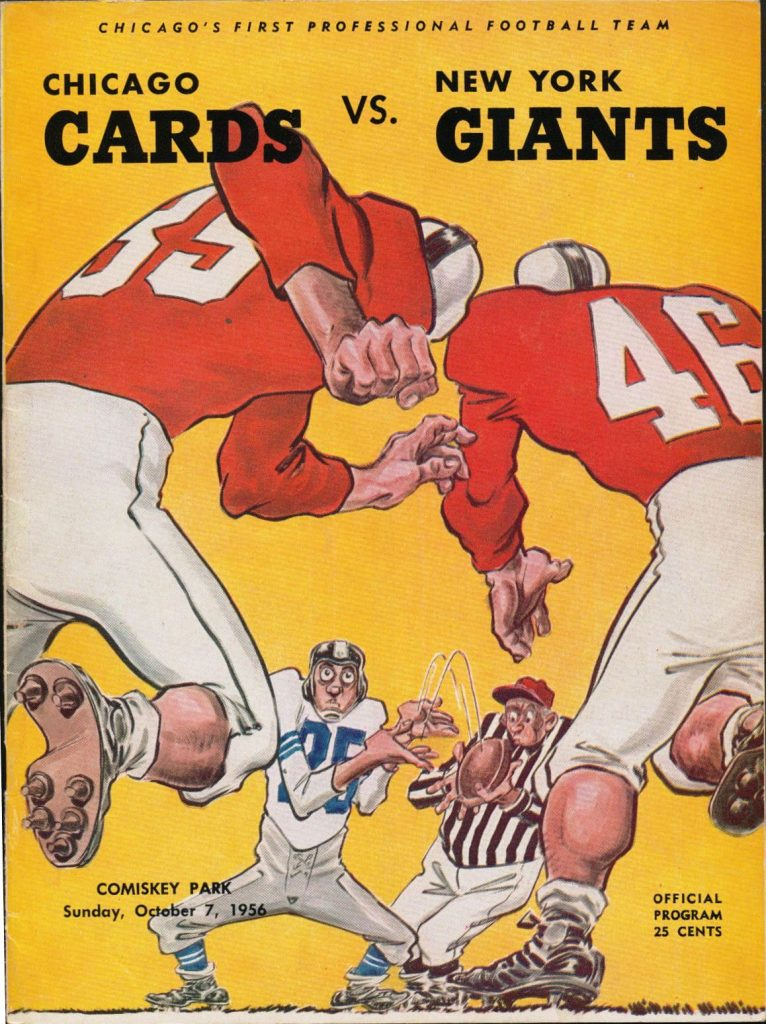 New York Giants at Chicago Cardinals Game Program (October 7, 1956)