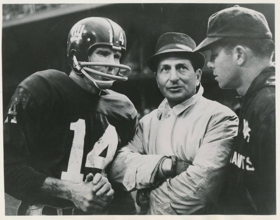 Y.A. Tittle, Allie Sherman, and Kyle Rote, New York Giants (1963)