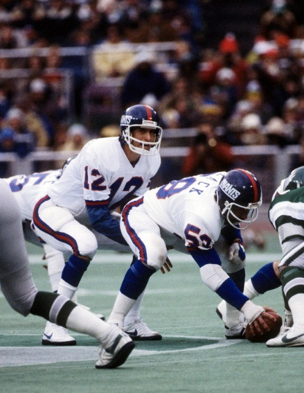 Scott Brunner (12), Jim Clack (58), New York Giants (November 22, 1981)