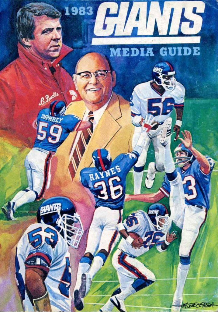 1983 New York Giants Media Guide