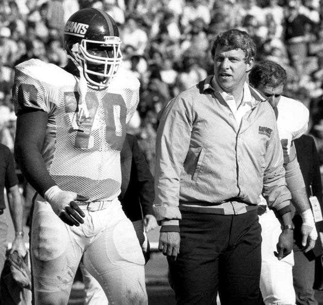 Leonard Marshall and Bill Parcells, New York Giants (December 23, 1984)
