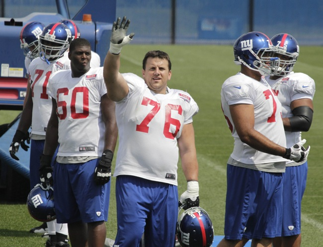 Chris Snee, New York Giants (August 22, 2012)
