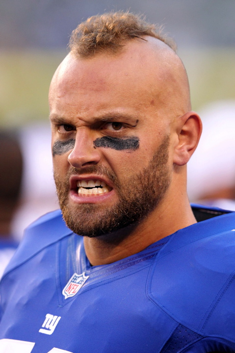 Mark Herzlich, New York Giants (August 18, 2012)