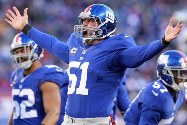 Zak DeOssie, New York Giants (December 30, 2012)