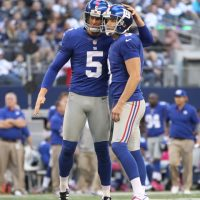 Steve Weatherford (5), Lawrence Tynes (9), New York Giants (October 28, 2012)