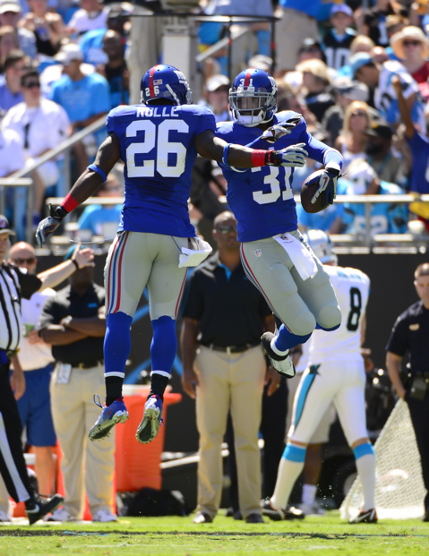 Antrel Rolle and Aaron Ross, New York Giants (September 22, 2013)