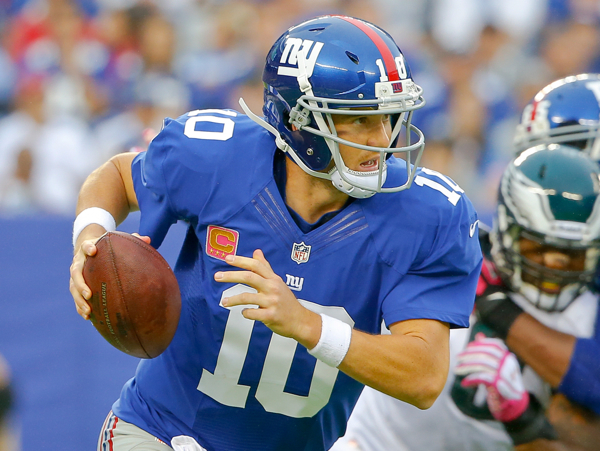 Eli Manning, New York Giants (October 6, 2013)