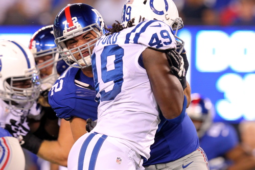 Justin Pugh, New York Giants (August 18, 2013)