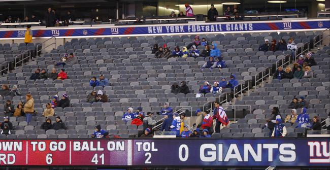 Near Empty MetLife Stadium, New York Giants (December 15, 2013)
