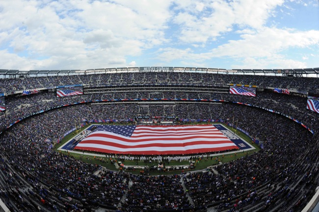 American Flag, Oakland Raiders at New York Giants (November 10, 2013)