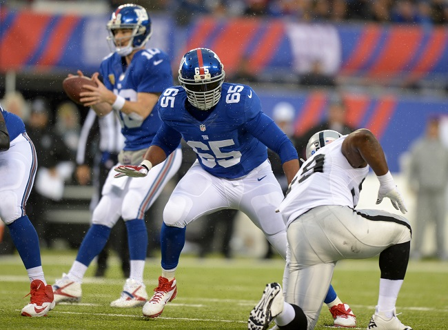 Will Beatty, New York Giants (November 10, 2013)
