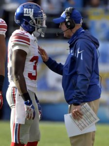 Charles James, Tom Coughlin, New York Giants (December 8, 2013)