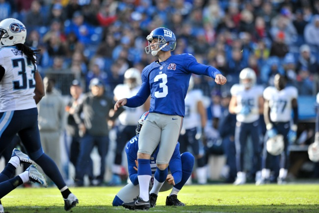 Josh Brown, New York Giants (December 7, 2014)