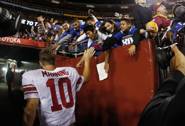 Eli Manning, New York Giants (September 25, 2014)