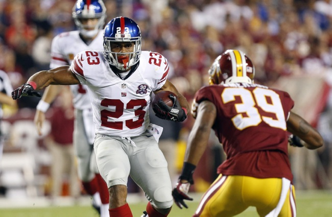 Rashad Jennings, New York Giants (September 25, 2014)