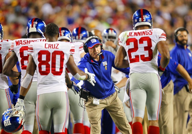 Tom Coughlin, New York Giants (September 25, 2014)