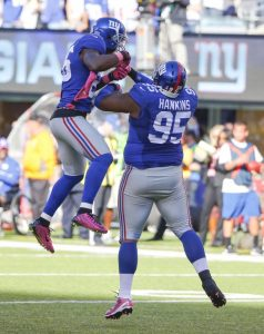 Antrel Rolle and Johnathan Hankins, New York Giants (October 5, 2014)