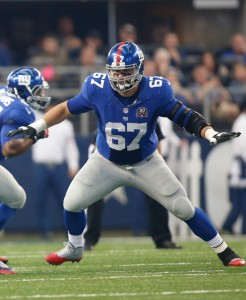 Justin Pugh, New York Giants (October 19, 2014)